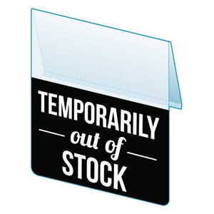 "Shelf Tags ""Temporarily out of stock""- 25 per pack-Free shipping to Canada & USA- No minimum order!"