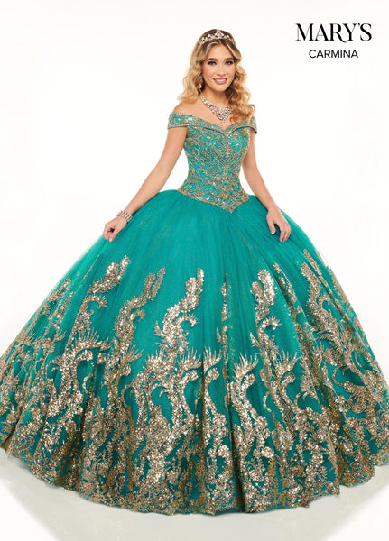 Carmina Quinceanera Dresses In Blush Rose Gold Or Jade Gold Color Lupita S Bridal House