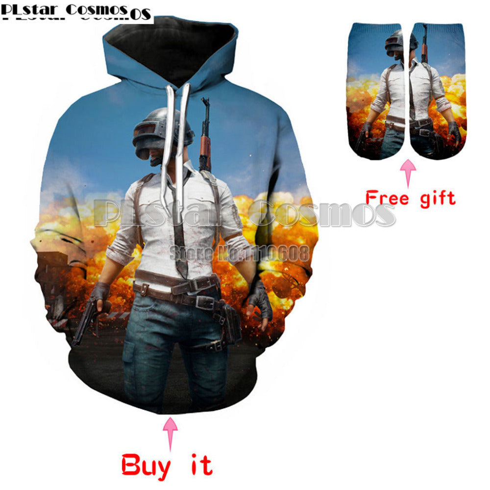 PUBG game Hoodies men / women long sleeve 3D S-5XL Carnival