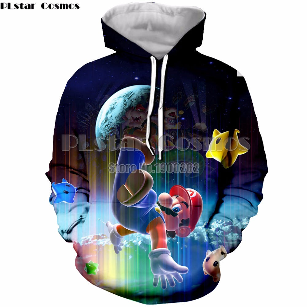 Super Mario Men's Hoodies Sweatshirt Men's/women Long Sleeve 3D