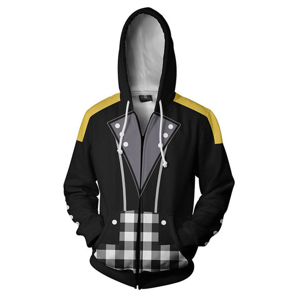 Kingdom Hearts Riku Keyblade 3D Printed Hooded Sweatshirts Zipper