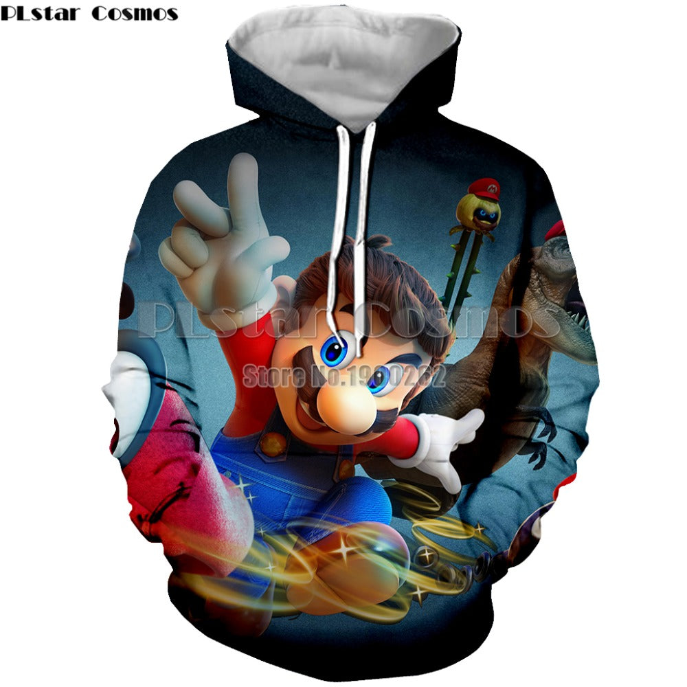 Super Mario Game Hoodies Sweatshirt Men's/women Long Sleeve S-5XL