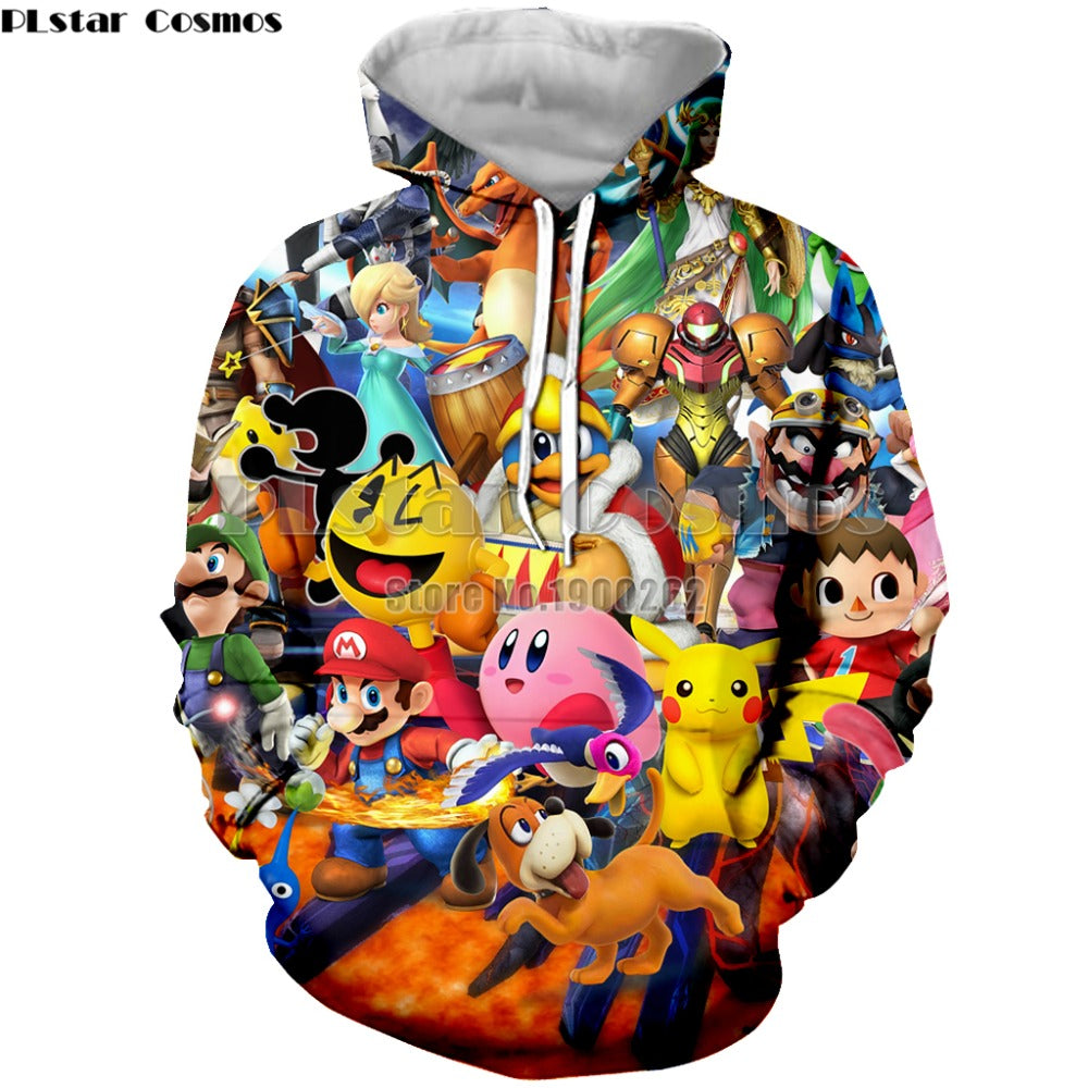 Super Mario Men's Hoodies Sweatshirt Men's/Women Long Sleeve
