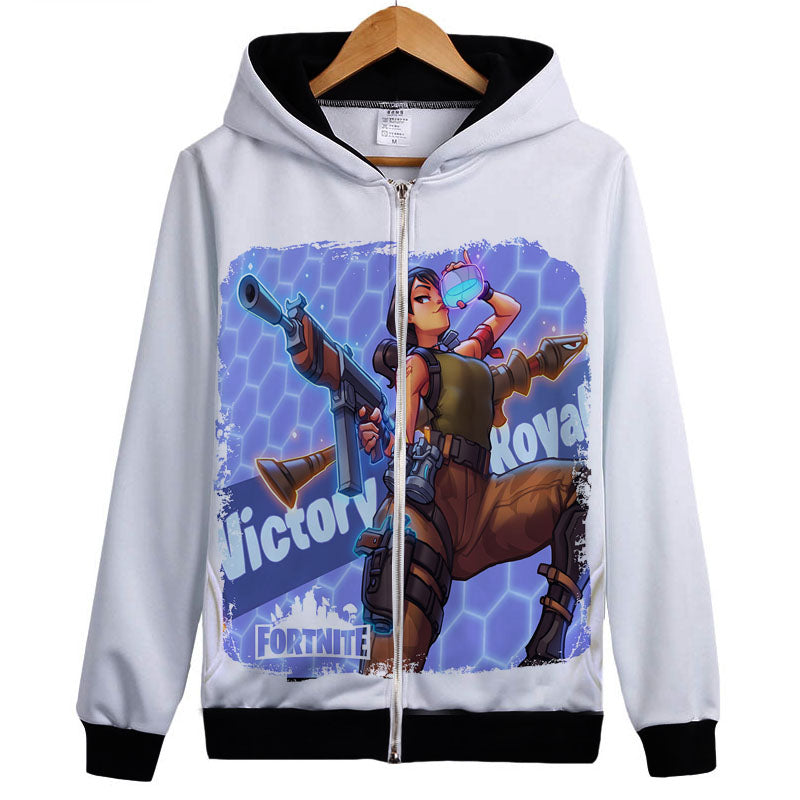 Fortnite Hoodies Sweatshirts Battle Royale  Zipper Coat