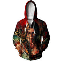 Tomb Raider Print 3D Mens Womens Casual Hoodies