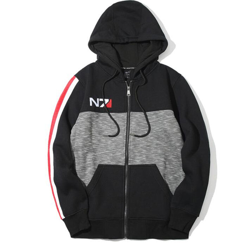 High Quality Game Mass Effect Hoodies Sweatshirts Cosplay Fleece Costumes N7 Coat Hooded