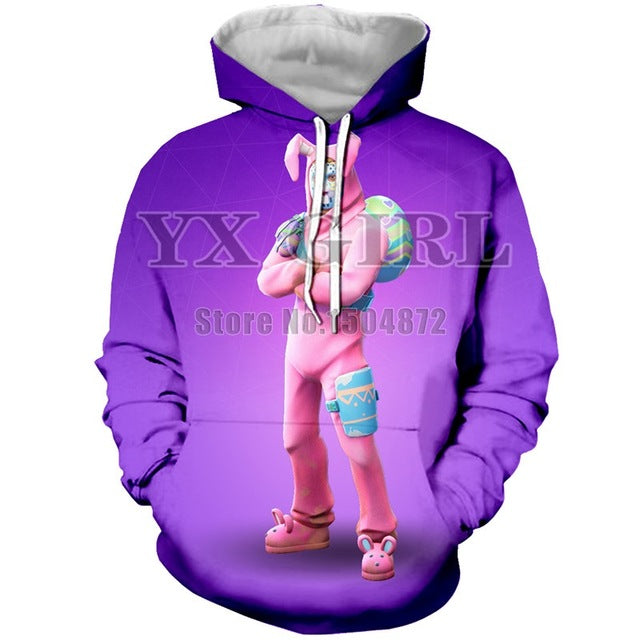 Fortnite Hoodie Female Pullover Streetwear