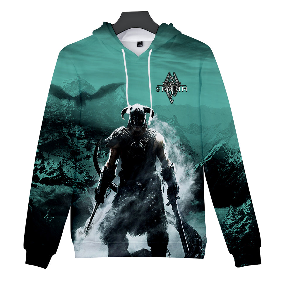 3D The Elder Scrolls V SKYRIM Men's Pullover Hoodies 2018 New Sweatshirt