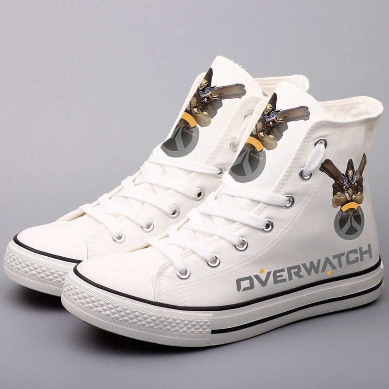 OVERWATCH High Top Printed Leisure Flat Walking Shoes