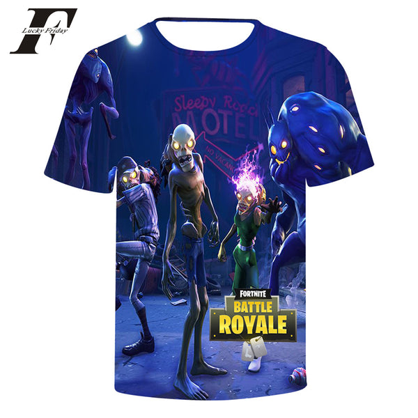 2018 Fortnite 3D Printed Men's Casual Short-Sleeve
