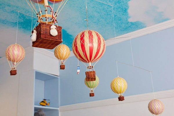 hot air balloons on the block available at the hera collective aerial
