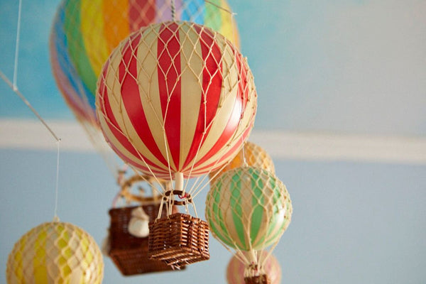 hot air balloons on the block available at the hera collective close view