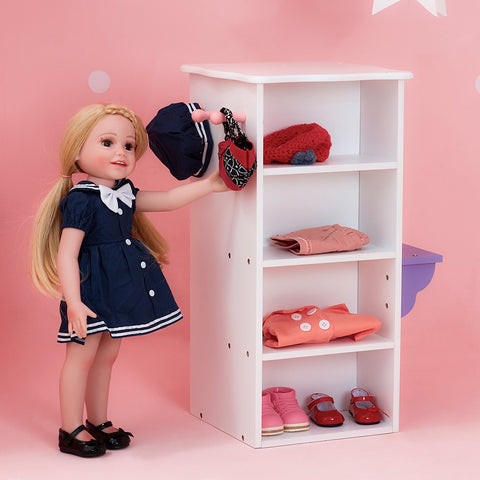 Little Princess 45cm Doll Furniture - Dresser with 3 Hangers