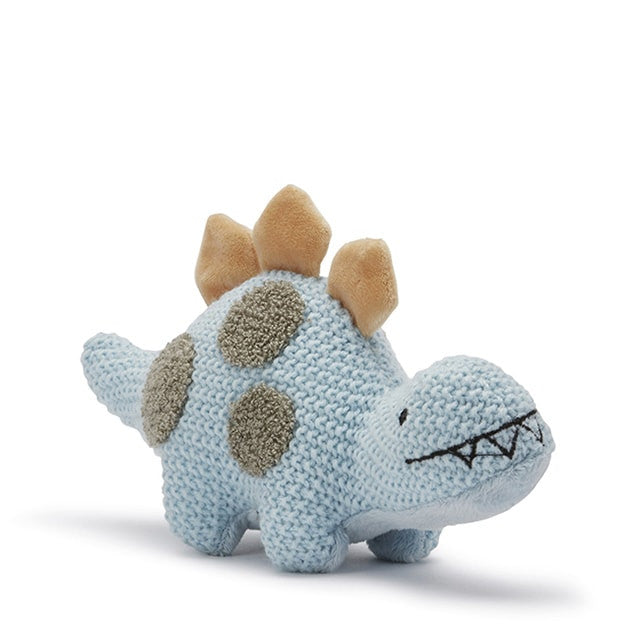 baby dino toy chrochet style pale blue