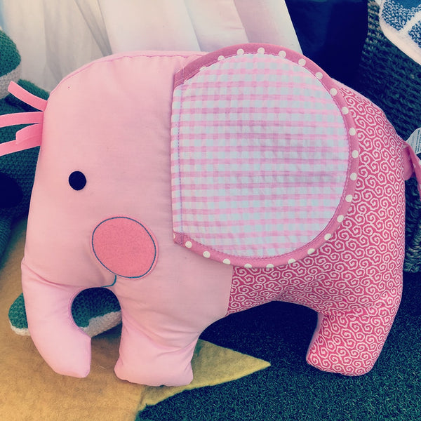 Elephant Pink Softie Cuddle Pillow