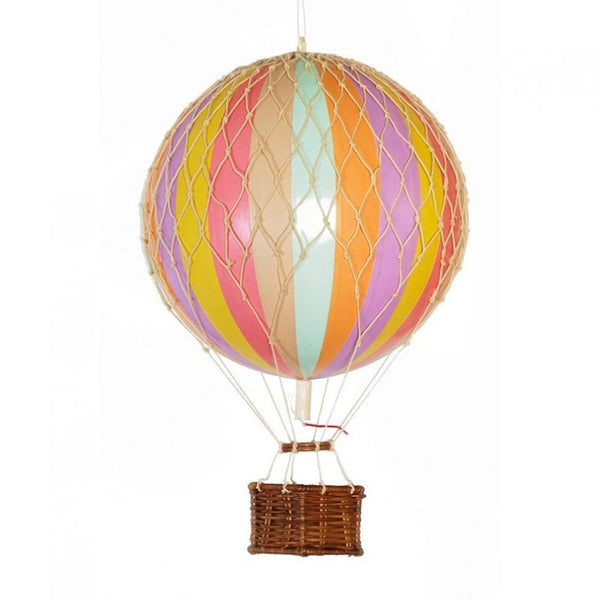 Travels Light Hot Air Balloon Rainbow Pastel available at The Hera Collective