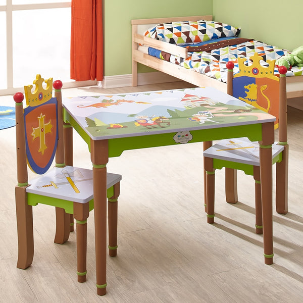 Knights & Dragons Table & Set of 2 Chairs