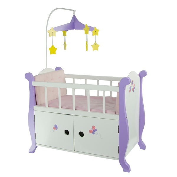Little Princess 45cm Doll Furniture - Baby Nursery Cot with Cabinet