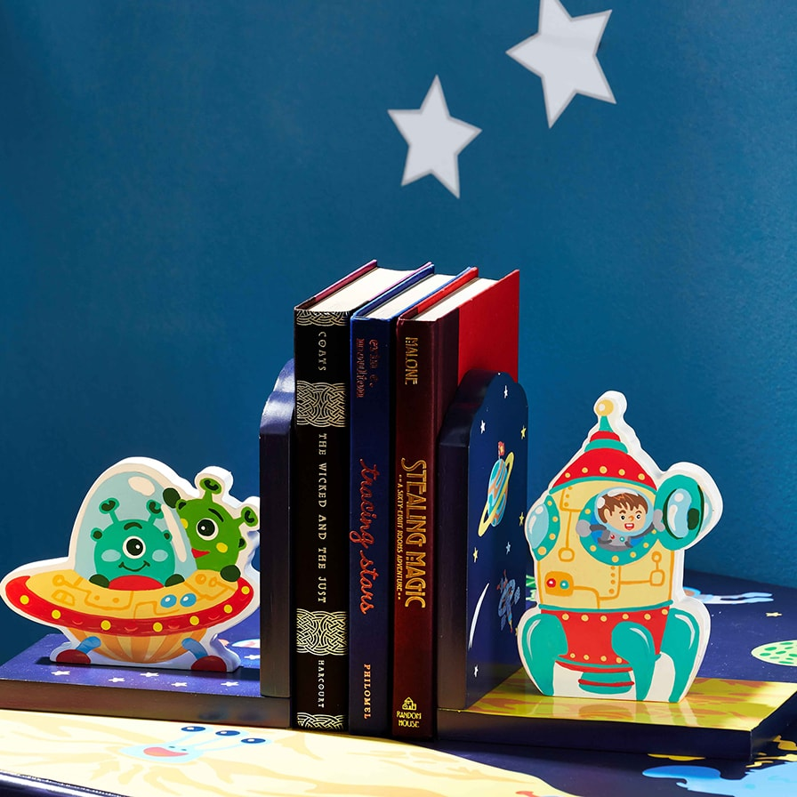 Outer Space Bookends Set