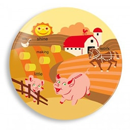 Farm Animals Plate - Limited Edition