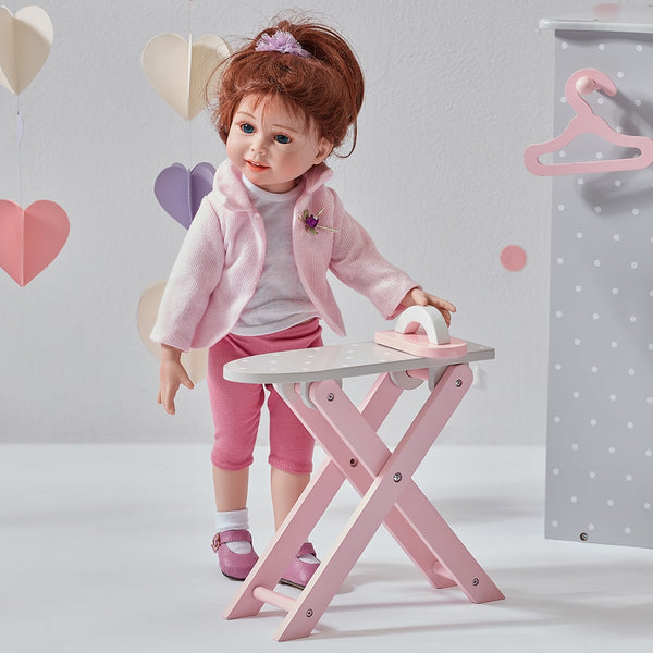 Little Princess 45cm Doll Furniture - Polka Dots Ironing Board