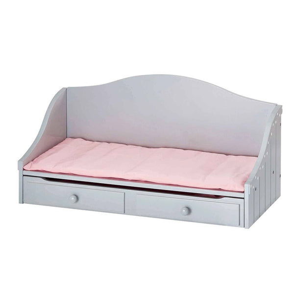 Little Princess 45cm Doll Furniture - Polka Dots Trundle Bed