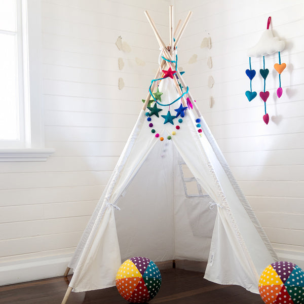 Teepee Regular Size Front View Inside House available at The Hera Collective