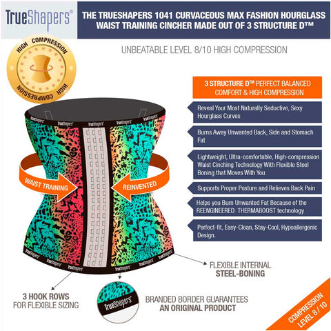 Colorful Print High Compression Waist Trainer by TrueShapers - Shapersfit.com