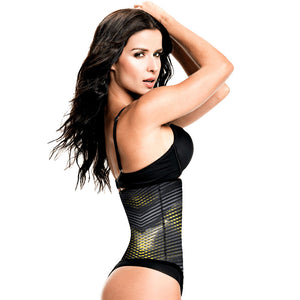 Geometric Print Workout Waist Trainer with Ultra High Compression by TrueShapers®