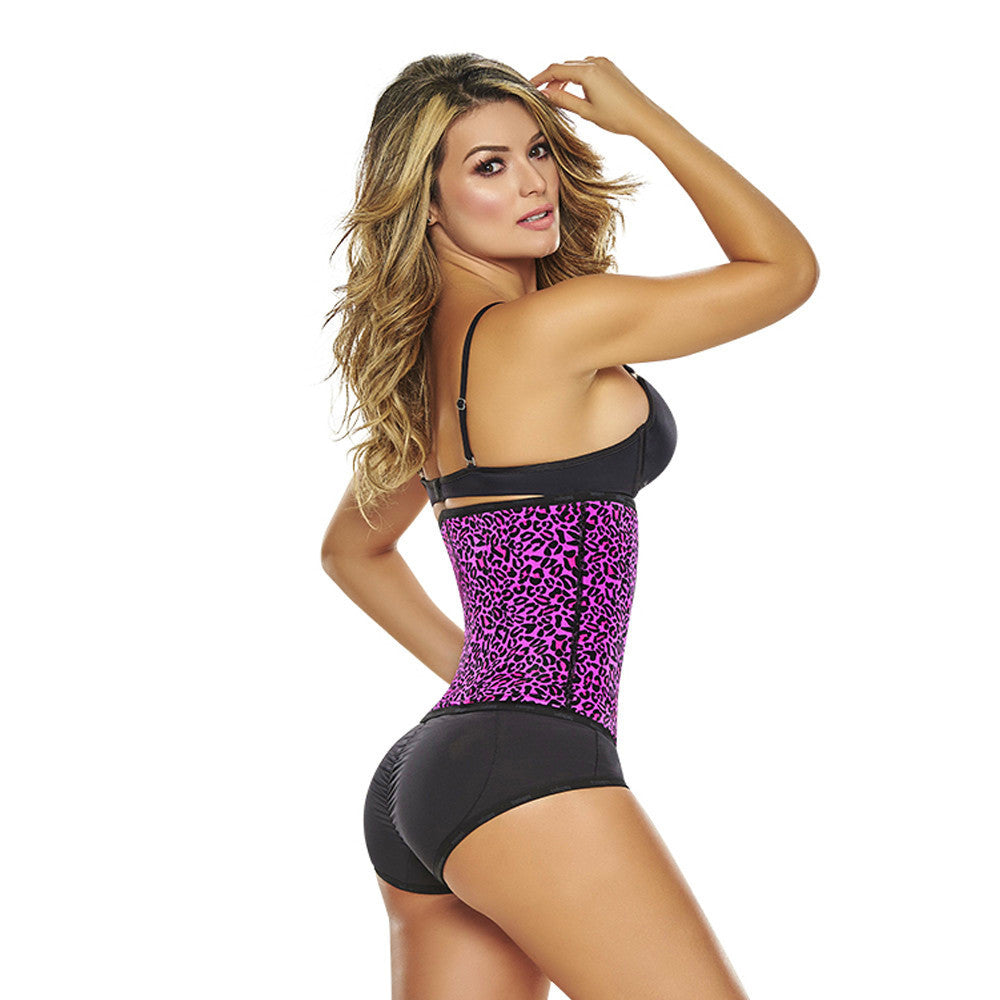 Pink Animal Print Classic High Compression Colombian Waist Cincher by TrueShapers® | Shapersfit.com