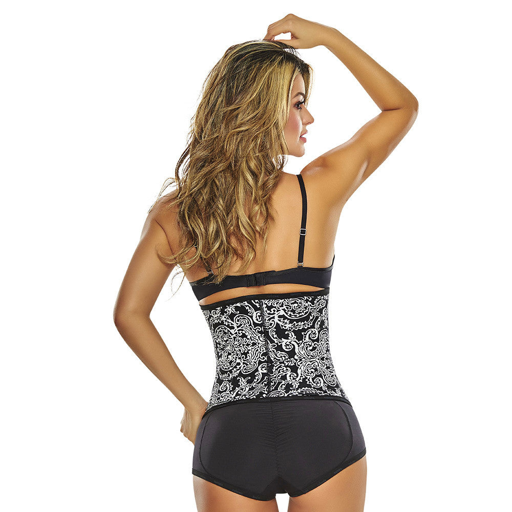 Print Classic High Compression Non Latex Waist Trainer by TrueShapers - Shapersfit.com