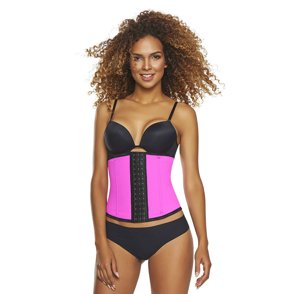 Fuchsia / Neon Green Workout Waist Trainer with High Compression by TrueShapers®