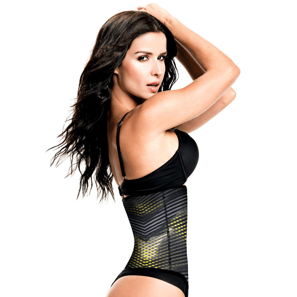 Geometric Print Workout Waist Trainer with High Compression by TrueShapers®