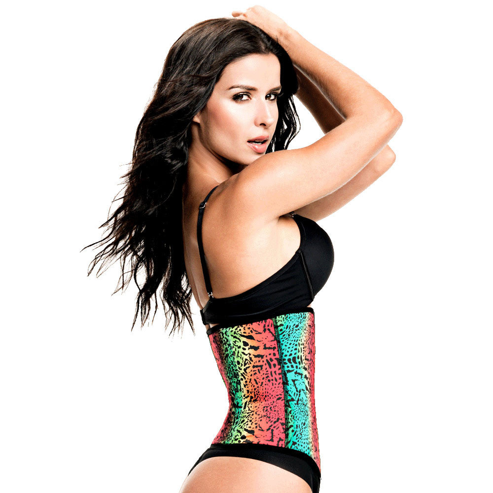 80d6d745f ... Animal Print Workout Waist Trainer with High Compression by TrueShapers®  ...