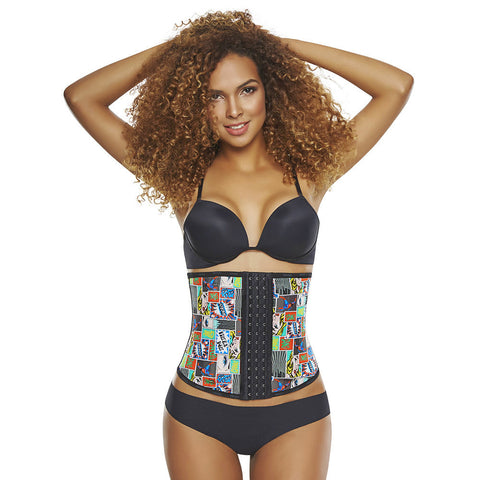 Hero / Print Workout Waist Trainer with High Compression by TrueShapers®