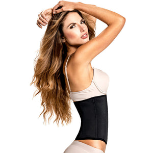 Black Workout Waist Trainer with Ultra High Compression by TrueShapers®