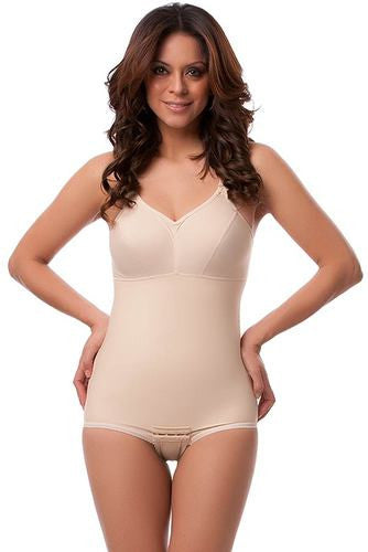 2nd Stage Body Suit with Bra Mid thigh Length Plastic Surgery Compression Garment