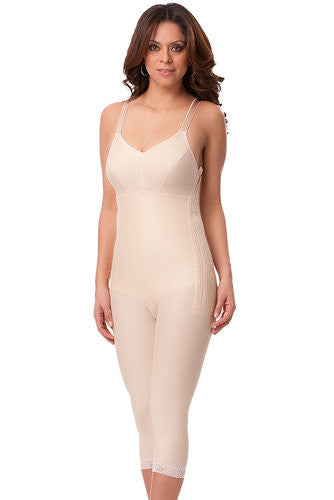 Below Knee Length Body Suit with Bra and Zipper Plastic Surgery Compression Garment | BB05