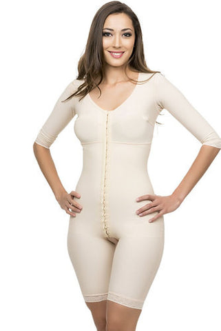 Mid Thigh Length Full Body Suit with Bra Plastic Surgery Compression Garment | BB09