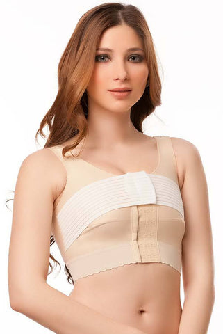 Surgical Compression Bra with 2 inches elastic and 3 inches stabilizer band | BR03
