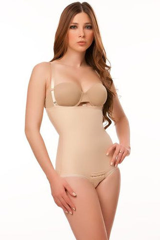2nd Stage Panty Length Body Suit Plastic Surgery Compression Garment with Suspender | BS02