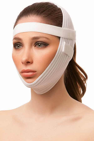 Post Facial Surgery Chin Strap Compression Garment with 2-1 inch bands