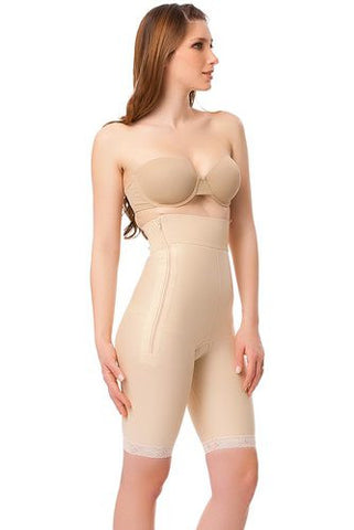 High Waist Abdominal Compression Garment | Above Knee Length with Zippers