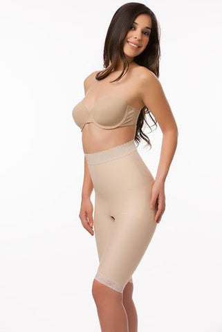High Waist Abdominal Compression Garment | Above Knee Length