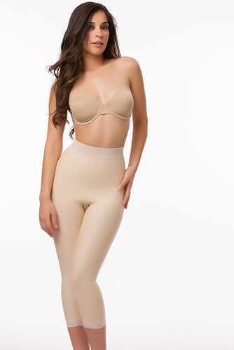 High Waist Abdominal Compression Garment | Below Knee Length