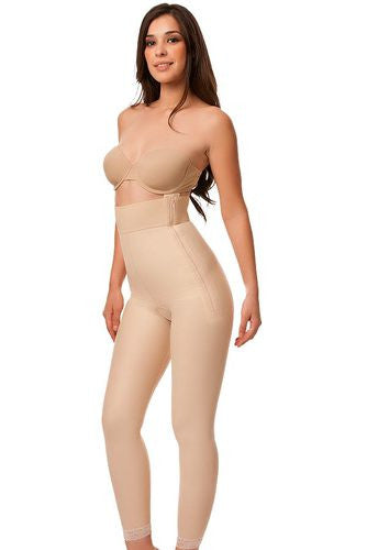 High Waist Abdominal Compression Garment | Ankle Length with Zippers