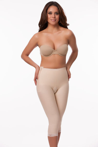 Low Waist Abdominal Compression Garment | Below Knee Length With Zippers