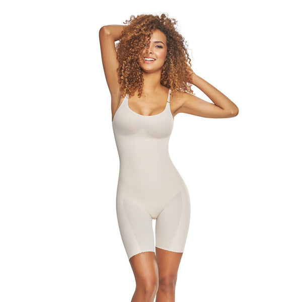 Butt-lifting Seamless Mid-Thigh Bodysuit Shapewear by TrueShapers®