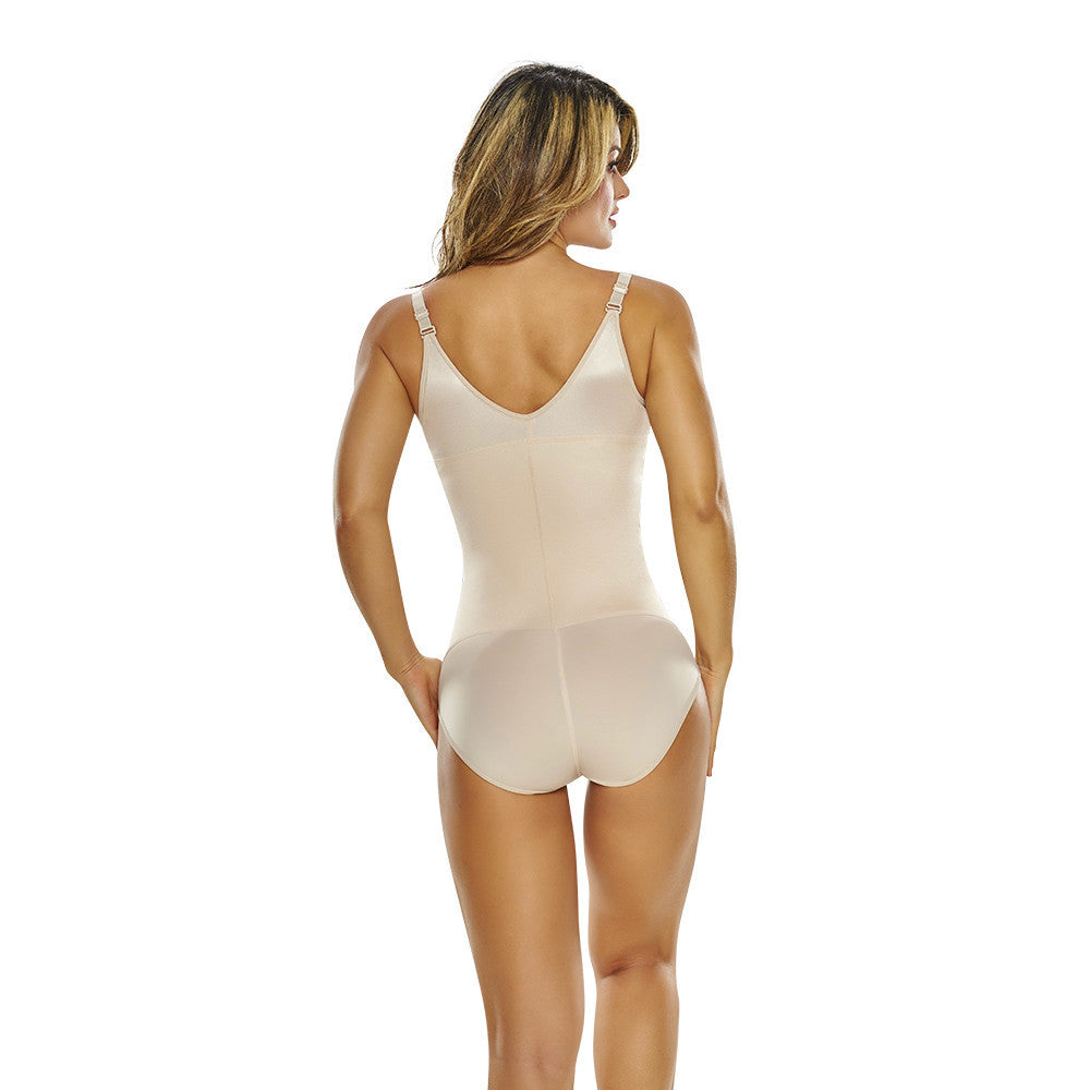 Open Bust Slimming Body Shaper in Classic Panty with Front Zipper by TrueShapers®