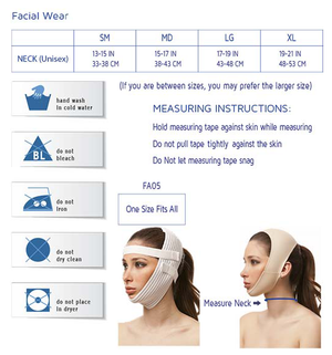 Post Facial Surgery Chin Strap Compression Garment with Medium Neck Support | FA02
